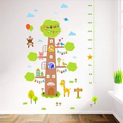 TYKCRt wandaufkleber Tier Cartoon Baum Sweet Home höhe maß s für kinderzimmer AFFE Giraffe bär Kinder wachstum Grafik Aufkleber -