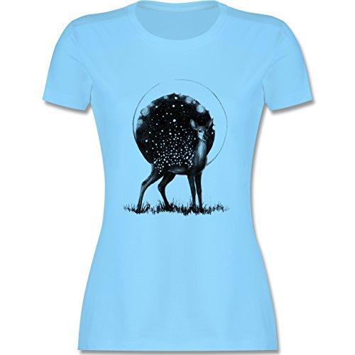 Statement Shirts - Reh Mond und Sterne - tailliertes Premium T-Shirt mit  Rundhalsausschnitt für