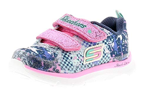 Skechers Girls Skech Lite - Flexies Sporty Colourful Textile Trainers