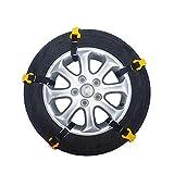 Class-Z Schneeketten 5 Stück, Auto Reifen Notfall Schnee Reifen Kette Auto Sicherheitskette für Das Auto Truck,ABS und ESP kompatibel