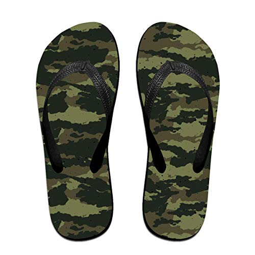 Cool Camouflage Unisex Adults Casual Flip-Flops Sandal Pool Party Slippers Bathroom Flats Open Toed Slide Shoes Medium -