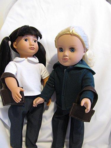 """Azul marino de invierno uniforme escolar para Fit 18muñecas """"como DesignaFriend; Muñeca y nuestra generación"""