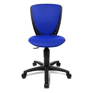 Topstar 70570BB60 High S'cool, Kinder- und Jugenddrehstuhl, Schreibtischstuhl für Kinder, Bezugsstoff blau