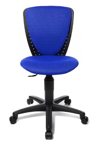 Topstar 70570BB60 High S'cool, Kinder- und Jugenddrehstuhl, Schreibtischstuhl für Kinder, Bezugsstoff blau -