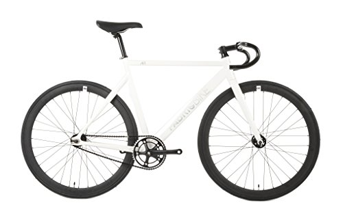 52 Single (FabricBike Air+ - Fahrrad Fixie, Starre Nabe, Fixed Gear, Single Speed, Aluminiumrahmen, ca. 8,5 kg (Air+ White, M-52))