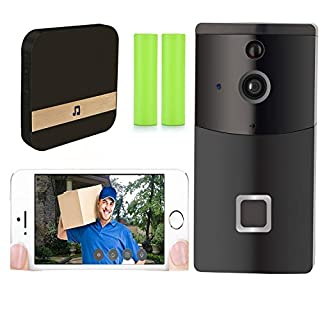 Nicam Video Doorbell, Smart Doorbell 720P HD Wifi Security Camera, With Chime and Battery, Real-Time Video and Two-Way Talk, Night Vision, PIR Motion Detection and App Control for iOS and Android