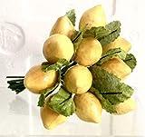 144 limoni medi con foglia DECORAZIONE BOMBONIERA Frutto Limone