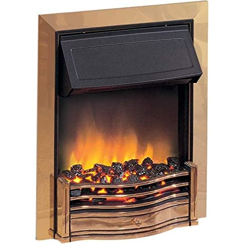 41PpobdMq1L. SS500  - Dimplex Danesbury Inset Electric Fire Brass 2kw c/w Real Coal Effect