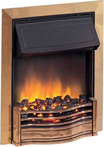 41PpobdMq1L - Dimplex Danesbury Inset Electric Fire Brass 2kw c/w Real Coal Effect