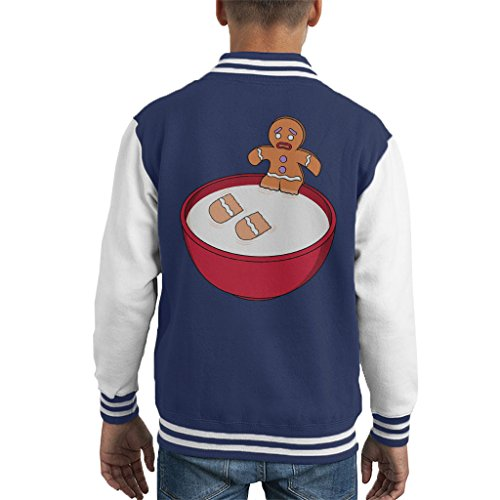 Shrek Gingerbread Man Milk Problems Kid's Varsity Jacket Shrek Gingerbread
