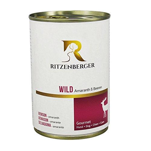 Ritzenberger, cibo per cani, Selvaggina - amaranto, 12 x 400g, Gourmet