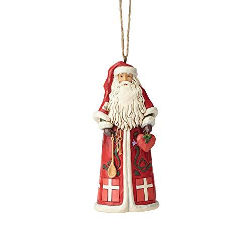 ENESCO Jim Shore Heartwood Creek Dänischer Weihnachtsmann, 11,4 cm, Mehrfarbig