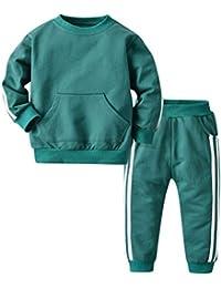 Kanlin Ropa Bebe NiñO Manga Larga OtoñO/Invierno NiñA Tops CháNdal Rayas Sudaderas con Capucha Camiseta +Pantalones Trajes Conjunto