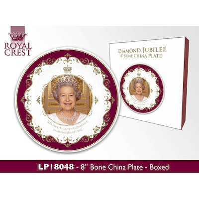 Her Majesty Queen Elizabeth II Diamond Jubilee 2012 Fine Bone China 8
