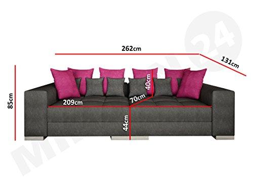 Sofa Bonn mini, Moderne und Groß Couch, Sofagarnitur, Couchgarnitur, Bigsofa vom Hersteller, Wohlandschaft, Microfaser (Hermes 6408 + Lumia 110) - 3