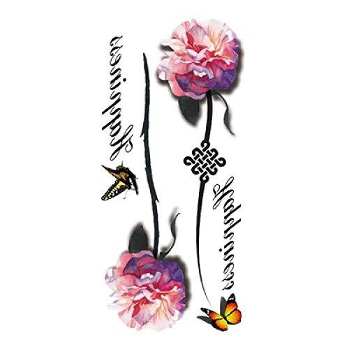 too-Aufkleber Tattoo Aufkleber Wasserdicht Weiblich Langlebige Koreanische Ins Wind 3D Dreidimensionale Blume Fliegen Schmetterling Aufkleber Brust Arm Schlüsselbein Farbe 10 STK ()