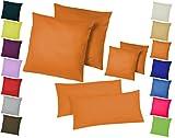 Home-Impression Doppelpack / 2er Set Microfaser Kissenhüllen/Kissenbezüge - Wohndekoration in schlichtem Uni Design mi