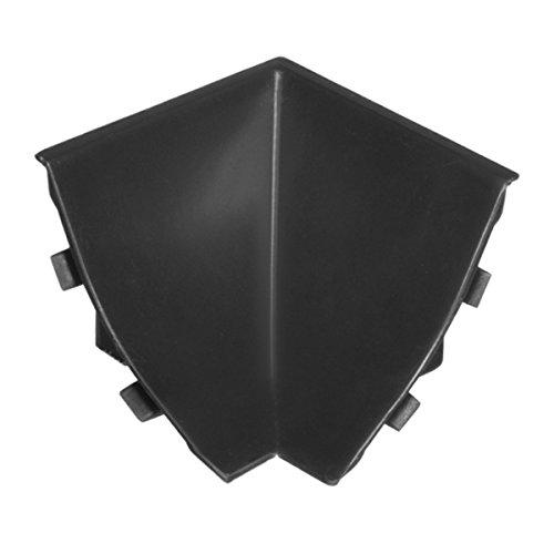 HOLZBRINK Innenecke passend zum Dekor Ihrer Abschlussleisten Schwarz Innenkante PVC Küchenabschlussleiste 23x23 mm