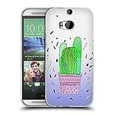 Head Case Designs Offizielle Vasare NAR Kaktus Vibe Tropisch Soft Gel Hülle für HTC One M8 / M8 Dual SIM
