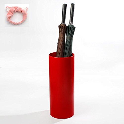 Red Umbrella Stand (@ XUE @ -High-Grade Umbrella Stand Red Umbrella Eimer (senden Geschenk - Kopfschmuck - Material Tuch))