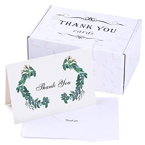Dankeskarten mit selbstklebenden Umschlägen, recycelt, 50 Stück