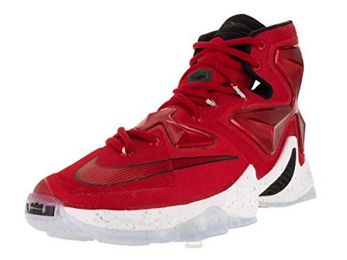 Nike Lebron Xiii, Chaussures de Sport-Basketball Homme, Taille Rouge / blanc / noir / orange (rouge université / blanc - noir -orange laser)