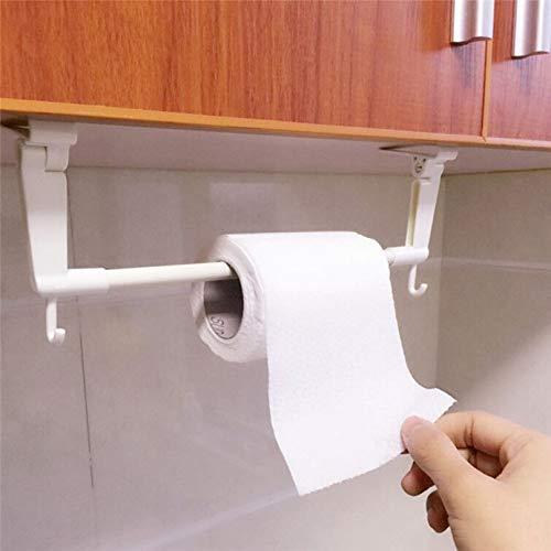 Küchenpapierhalter Aufhänger Tissue Roll Handtuchhalter Badezimmer WC Waschbecken Tür hängen Veranstalter Lagerung -