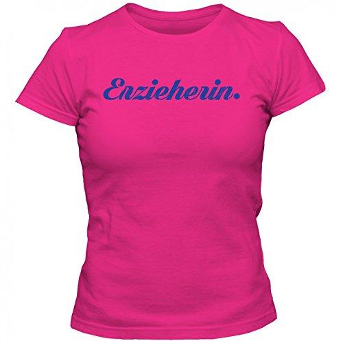 Erzieherin #1 T-Shirt | Berufe-Shirt | Traumberuf | Beste Erzieherin | Frauen | Shirt Pink (Orchid Pink L191)