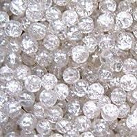 Lot de 50 perles en verre craquelé de 10 mm - K2 accessories - A2010, couleur tranparente