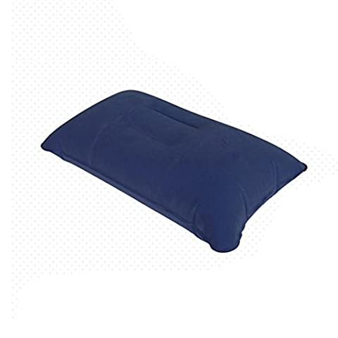 Janly®1Pcs Inflatable Rectangle Pillow Travel Air Cushion Camping Beach Car Head Rest Support (Purple)