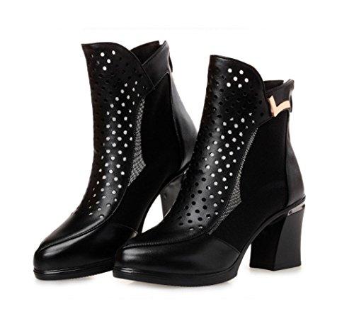 Frühling und Herbst Komfortable Sandalen High Heels , black , 40 (Sandalen Classic Rainbow)