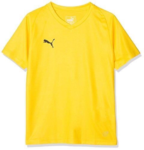 Puma Kinder Liga Jersey Core Jr T-Shirt, Cyber Yellow Black, 176