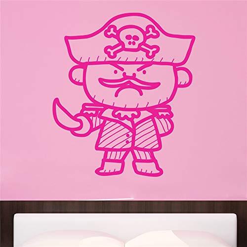 stickers muraux bebe papillon Capitaine Pirate pour chambre d'enfants
