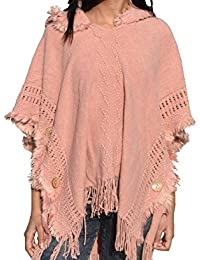 Gehna By RTS Hot Latest Tassel Sleeve Pullover Poncho Hooded Turkish Sweater Design for Girls and Women