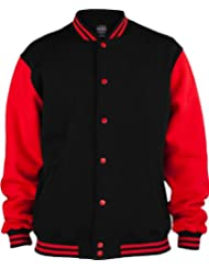 URBAN CLASSICS 2-Tone College Sweatjacke TB207 black/red XS