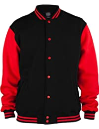 URBAN CLASSICS 2-Tone College Sweatjacke TB207 black/red XS