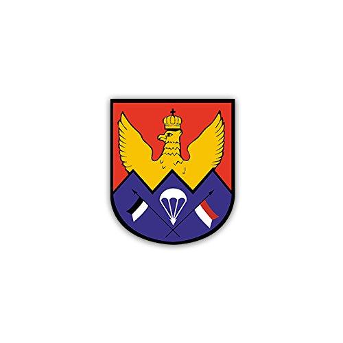 Aufkleber / Sticker -LLAufklKp 260 Luftlandeaufklärungskompanie Bundeswehr Heer Deutschland Heeresaufklärungstruppe Kompanie Bataillon Militär Wappen Abzeichen Emblem 6x7cm #A2133