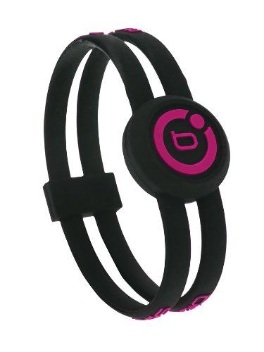 Bioflow Sport Magnetarmband, Schwarz / Pink XL 22.0cm