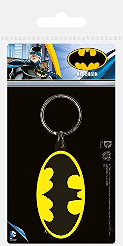 Pyramid International DC Comics Batman Symbole en caoutchouc Porte-clés, Multicolore, 4.5 x 6 cm
