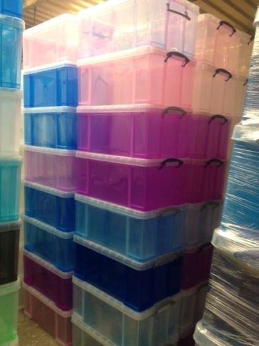 Really Use Box u2013 Juego de 3 cajas plástico 84 L transparente incoloro reciclado & Really use box the best Amazon price in SaveMoney.es