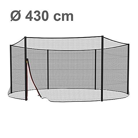 Ampel 24, Filet de sécurité pour trampoline 430 cm et 6 piquets | piquets non inclus | résistant aux UV | filet extèrieur