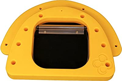 PetzPodz MEDIUM yellow premium plastic Front Insert for pod with clear acrylic dog flap