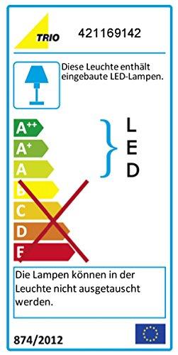 Trio Leuchten LED Außenleuchte Pearl 421169142, Druckguss Aluminium anthrazit, 1x 9 Watt