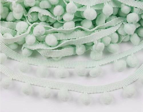 Mint Grün Pom Pom Trim Trimmen Nähen Craft Pro Meter 10mm Bobble Fransen Pompon Qualität Großbritannien von Zubehör Dachboden® -