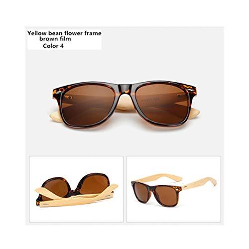 Sonnenbrillen Sunglasses Men Women Travel Goggles Sun Glasses Vintage Wooden Leg Eyeglasses Fashion Brand Sunglasses Male Female Color 4