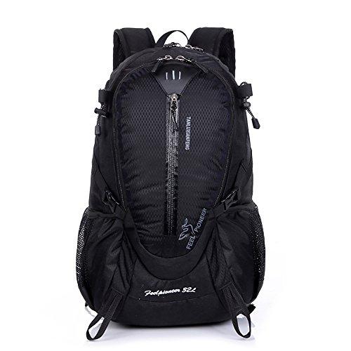 Zcl 32L zaino da escursionismo leggero Backpacking campeggio borsa a tracolla per sport all' aperto viaggio arrampicata trekking alpinismo giorno della, Uomo, Deep blue Black