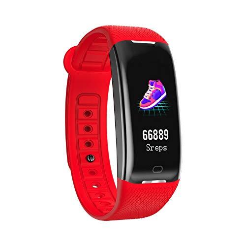 Yallylunn Herzfrequenzmesser Smart Armbanduhr-Farbdisplay Blutdruck SchrittzäHler Blutdrucktest Wasserdicht Und SchweißFest Silikonband