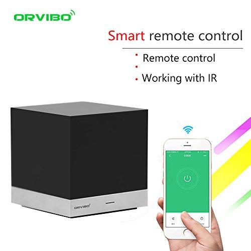 orvibo IR-Fernbedienung Hub Box funktioniert mit Amazon Alexa, Magic Cube Wireless Controller Smart Home WiFi-Fernbedienung für iOS Android Phone Handy, schwarz