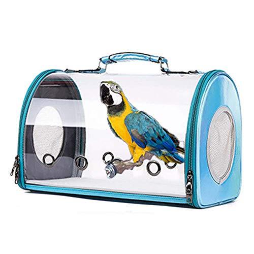 FXQIN Gabbia da Viaggio per Uccelli, Borsa da Viaggio per Uccelli con Pesce persico, Zaino per Pappagallo Trasparente, Portatile e...