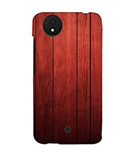 PrintVisa Rich Wood Pattern 3D Hard Polycarbonate Designer Back Case Cover for Micromax Canvas Android A1